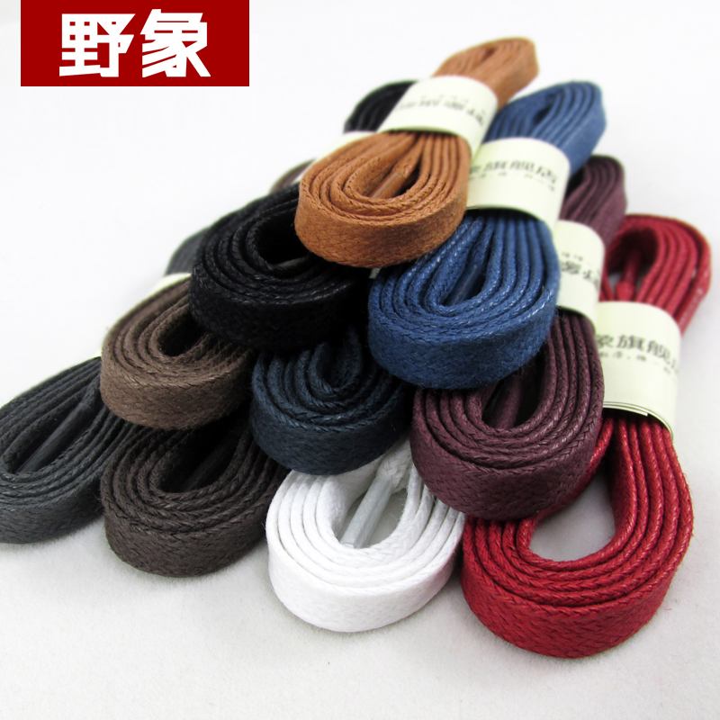 Cotton cord flat shape shoelaces unisex high top casual leather boot shoe laces fashion brand waterproof shoelace 120cm brushed cotton twill ivy hat flat cap by decky brown