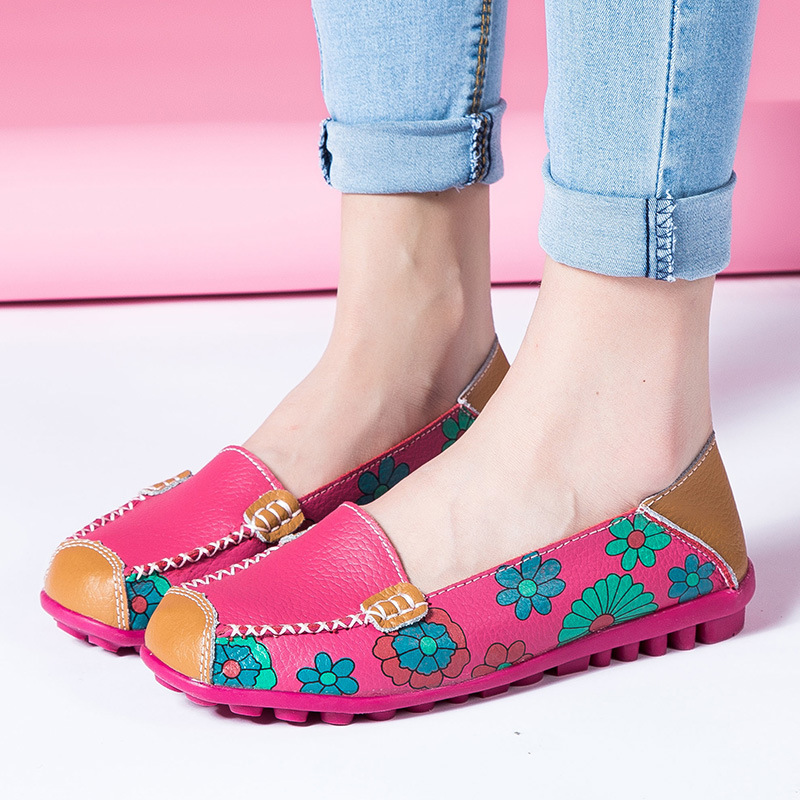 Genuine Leather Women Flats Shoe Fashion Casual Slip On Soft Loafers Spring Autumn Moccasins Female Driving Shoes Wholesale 2017 beango 2017 spring autumn casual women shoes lace up metal decor thick bottom leather shoe breathable travel loafers female