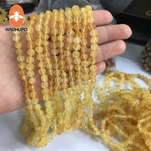 Hao Hu Po Wholesale 10pcs Baltic Amber Baroque Natural Necklace for Baby Supplier 7 Colors Raw GIC Individually Packaged