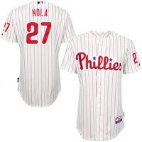 MLB Men's Philadelphia Phillies Aaron Nola Baseball White/Red Road 6300 Player Authentic Jersey