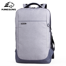 Kingsons KS3113W 15.6″ Laptop Bag Backpack Daily Rucksack Large Capacity Sac Main Men's Baypacks Women Bagpack free shipping RU