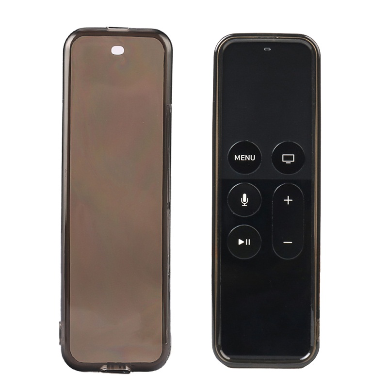 Shockproof Dust-plug TPU Case For Apple TV 4 Siri Remote Cover With Hand Strap