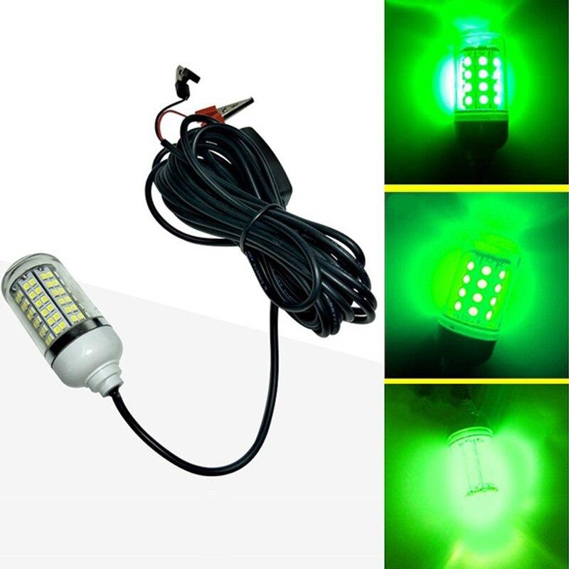 12V 15W poisson lumière LED 108 pièces LED IP67 sous-marine nuit pêche lumière leurres poisson trouveur lampe Crappie Shad calmar bateau lumière verte