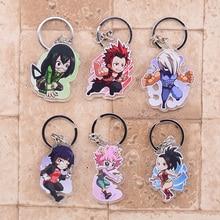 2018 My Hero Academy Keychain Bakugo Double Sided Acrylic Shoto Key Chain Pendant Anime Accessories Cartoon Key Ring DBS1P