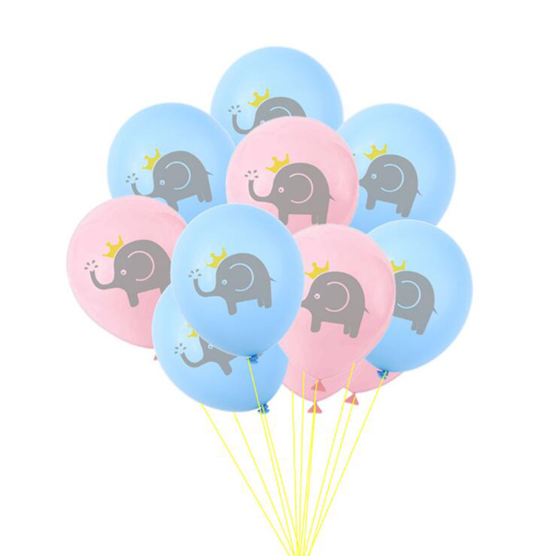 AVEBIEN 10pcs/lot 12 inch cartoon Elephant Latex Balloon Boy Girl Birthday Party Decoration DIY Baby Shower Event Supplies