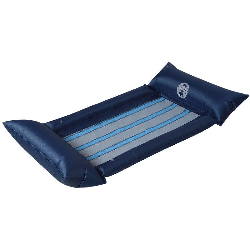 Lit flottant gonflable imperméable écologique de PVC avec le hamac flottant de l'eau de plage de bord de flotteur de piscine de mensonge-on de poignée