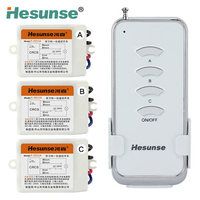 Y 211a1N3 220V Three Ways Wireless Digital Remote Control Switch With 3 Receivers Mnaual Switching Function