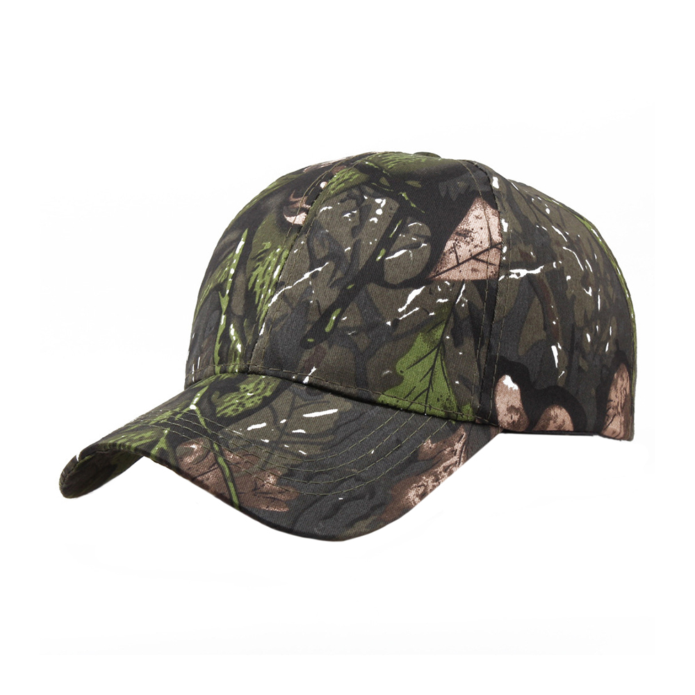 fashion baseball cap Women's Sunscreen Outdoor Cap-Quick Dry Jungle Cap Leaves Camouflage Unisex Men Camo Baseball Cap Hat(China)