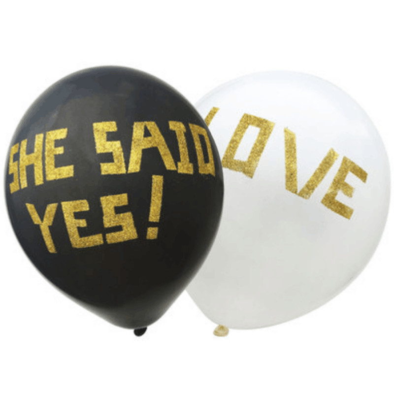 10Pcs/Lot 12Inches DIY She Said Yes Latex Balloons For Wedding Party Decorations Supplies