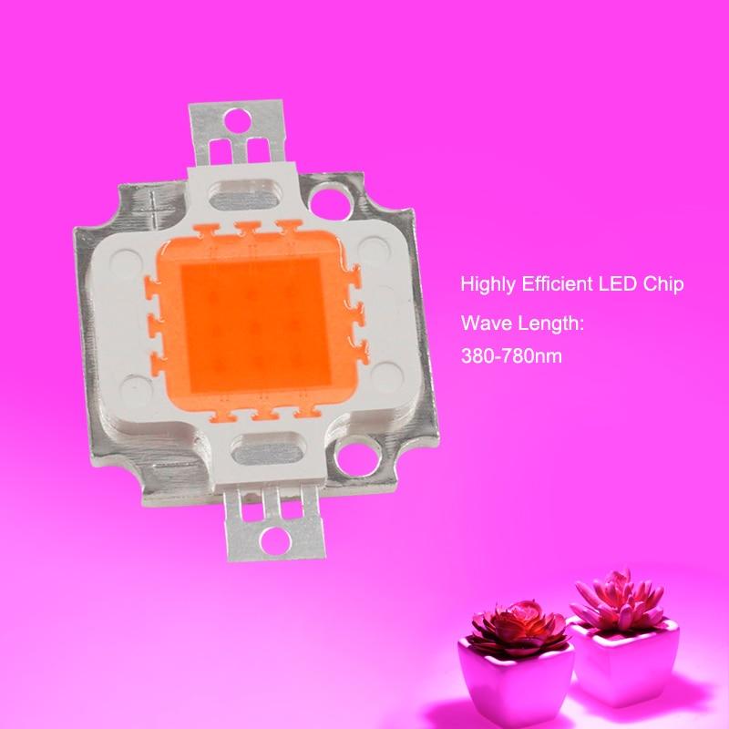 LED мъниста чип 10W 20W 30W 50W пълен спектър - Професионално осветление - Снимка 6