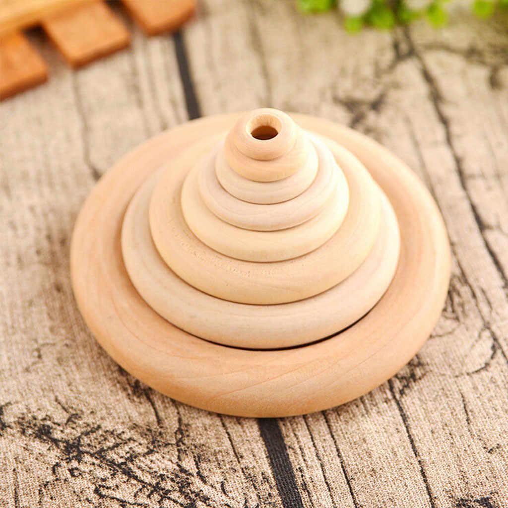 Домашние DIY 20 шт. 35/55/70 мм деревянные DIY ремесла разъемы круги натуральные деревянные кольца деревянные цветные Заготовки деревянные круглые 15x15x5 см JULY03