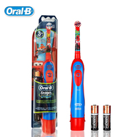 Oral B DB4510K Children Electric Toothbrush Oral Hygiene Deep Clean Pixar Cars Boys Waterproof Battery Toothbrush