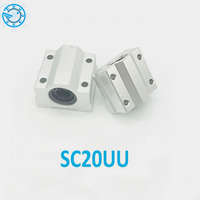 High Quality4 Pcs SC20UU SCS20UU 20mm Linear Ball Bearing Slide Unit 20mm Linear Bearing Block