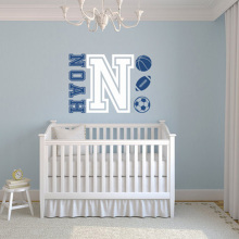YOYOYU Vinyl wall sticker for kids room Personalised Name Removeable Wall Decal Bedroom Decor Room Decoration ZX139
