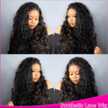 Long Cute Natural Wave Synthetic Wavy Wigs Lace Front Black Hair Glueless&Cheap Top Quality Synthetic Heat Resistant 12-26''