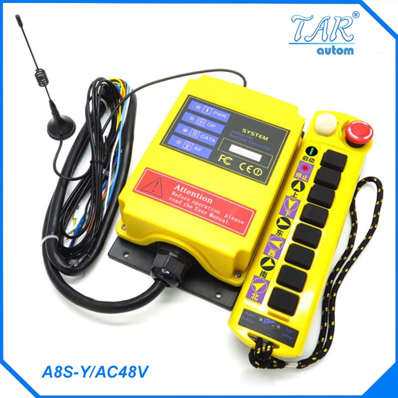 Remote 500m nine button crane industrial wireless remote control can be customized receiver AC48V Industrial Remote Control radio remote control a211 y ac48v industrial remote control push button switch receiver ac48v