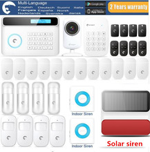 2018 Most Popular Alarm Etiger Wireless GSM Alarm system Safe home burglar Alarm system With Solar-powered Siren