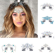 Gezicht juwelen sticker Make Up Adhesive Tijdelijke Tattoo Body Art Gems Rhinestone Stickers voor Festival Party(China)