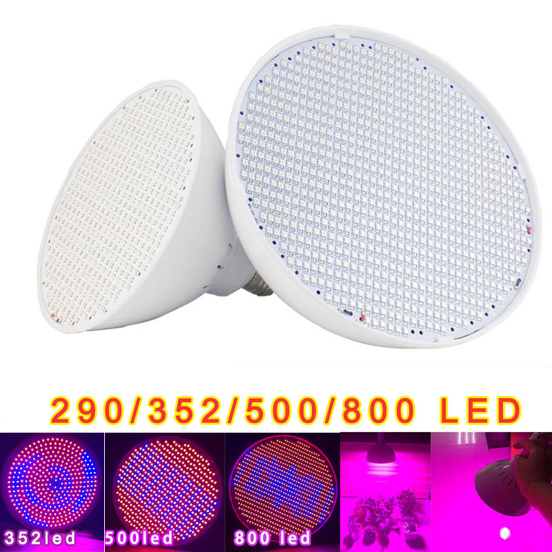 500 800 Led Plant Grow Light Tent Red Blue Hydroponics Flower Growing Lamp For Vegetable Seeds Indoor Room Greenhouse Garden E27