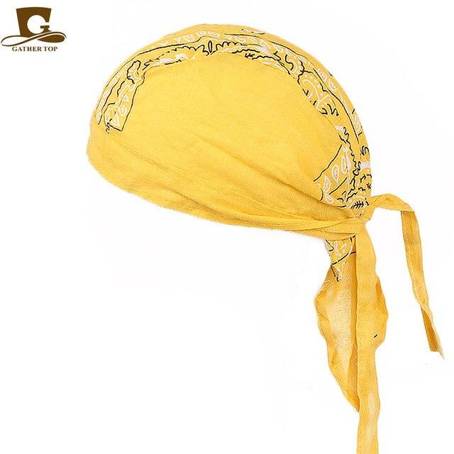 New Fashion Women Men Cotton Skull Caps Paisley Bandanas Headwear Unisex Bicycle  cycling Hat durag do rag Cap hair accessories 5