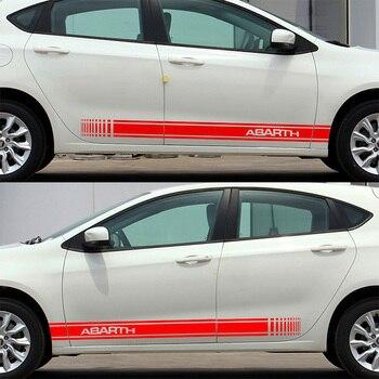 3 Pairs Customizable ABARTH Door Stickers Decal Car-Styling For fiat 500 grande punto bravo doblo panda ducato car accessories