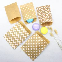 Kraft Paper Bags, Favour bags, treat bags, giftwrapping, baked goods bag 25pcs/lot(China)