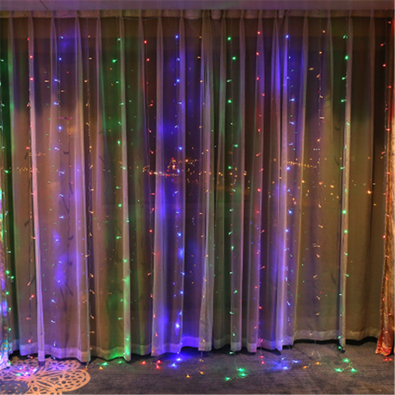 LED Icicle String Lights 3*3M 300LEDs Christmas Fairy Lights new year xmas Home For Wedding/Party/Curtain/Garden Decoration