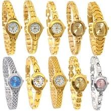 10PCS/Lot Mixed Bulk Cute Women Watches Ladies Women Girl Watch Stainless Steel Quartz Dress Wristwatch Gifts