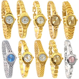Image 1 - 10PCS/Lot Mixed Bulk Cute Women Watches Ladies Women Girl Watch Stainless Steel Quartz Dress Wristwatch Gifts