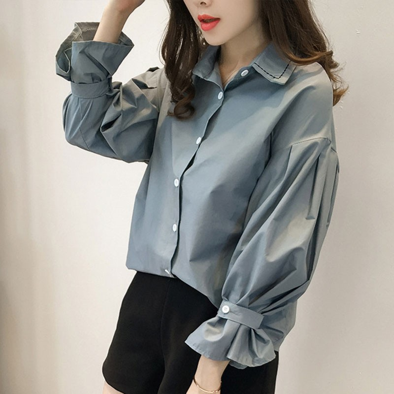 2018 Autumn Spring   Blouses     Shirts   Women Slim Casual   Shirts   Ladies Loose   Blouses