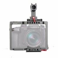 WARAXE GH5 комплект Камера клетка встроенный Quick Release подходит Arca Swiss для Panasonic GH5 GH4 с НАТО Rail ручка