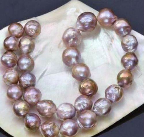 10-11mm natural south seas pink purple kasumi pearl necklace 18