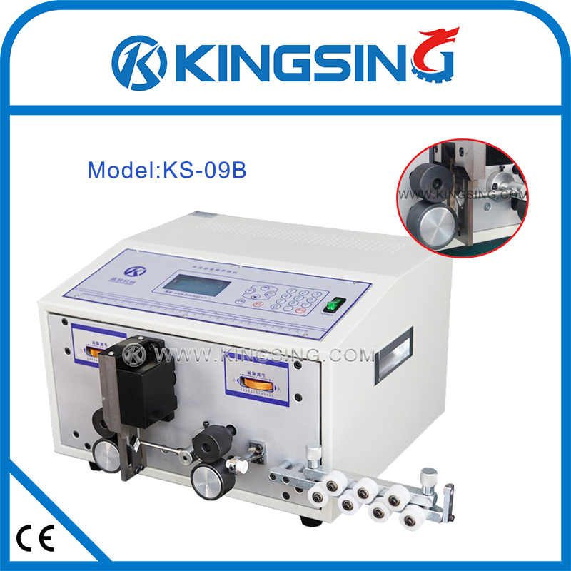 ks-09b(110v) electric cable cutting stripping machine, wire stripper for  processing wire harness + free shipping by dhl