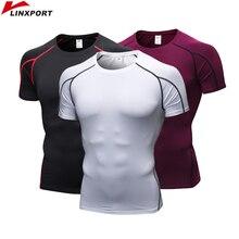 Running Shirst Men Gym Tights Short Sleeve Fitness Sports T Shirt Bodybuilding Mens Rashgard Jersey Tops ropa deportiva