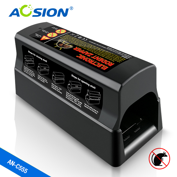 Aosion human electronic high voltage mouse trap powerful electric mouse killer rat rodent zapper AN C555