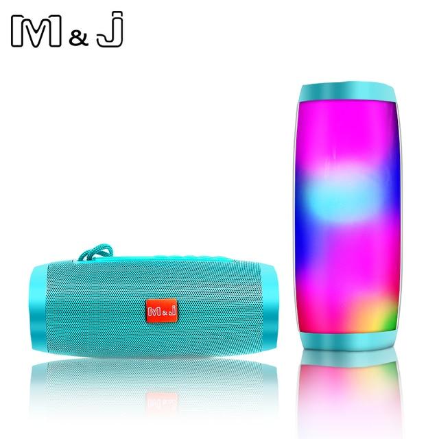 M&J Colorful LED Lights Bluetooth Speaker  5