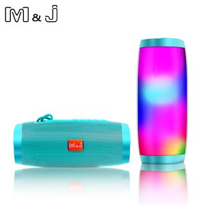 Image 5 - M & J 다채로운 LED 조명 블루투스 스피커 HIFI 스테레오 무선 휴대용 마이크 핸즈프리 지원 TF FM USB 플래시 Subwoffer