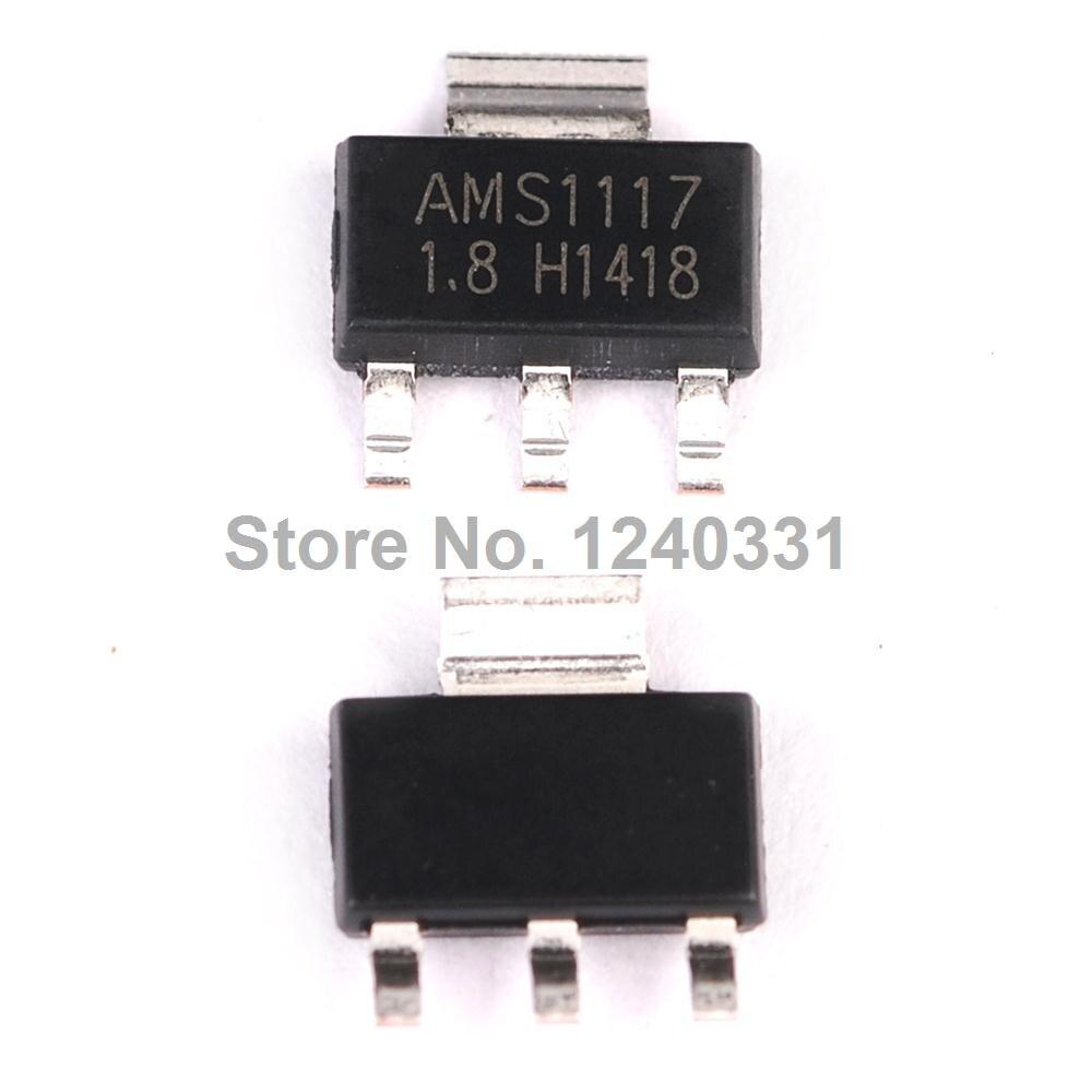 10pcs Ams1117 18v 1a Voltage Regulator Ldo Sot 223 In