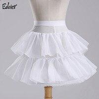 Petticoat Girl 2 Layers Hoopless Short Ruffle Skirt Flower Girl Dress Crinoline For Wedding Little Girls