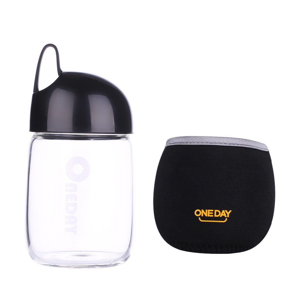 Бутылка для воды Стекло стакан фильтр Портативный Спорт герметичным питьевой воды для Бутылочки a1996c