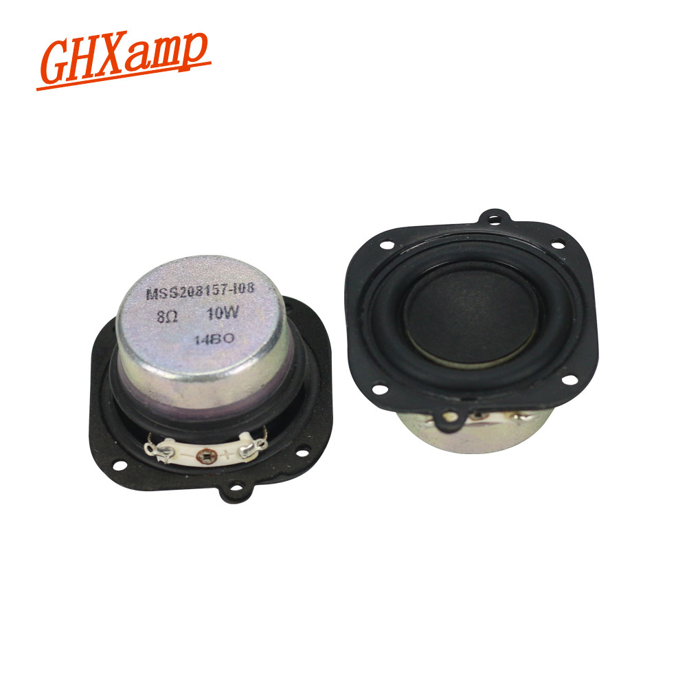 GHXAMP 2PCS 2 inch 8OHM 10W Neodymium Magnetic Full Range Speaker Rubber Edge Loudspeaker DIY Large voice coil For SK Speaker ghxamp 6 5 inch full range speaker coaxial horn car speaker unit 8ohm 30w neodymium car audio loudspeaker 2pcs