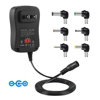 3V 4.5V 5V 6V 7.5V 9V 12V 2A 2.5A AC DC Adapter Adjustable Power Adapter Universal Charger Supply for LED light strip lamp 30W