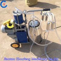 Single bucket piston type cow goat milking machine