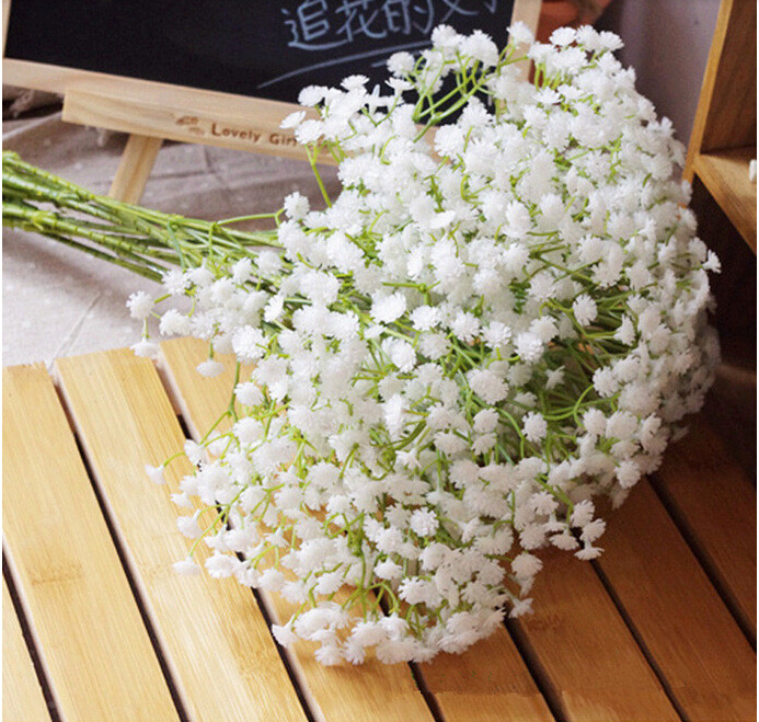 Free shipping baby breath wedding decoration flower white colour free shipping baby breath wedding decoration flower white colour flowers real touch flowers 30pcslot in artificial dried flowers from home garden on mightylinksfo