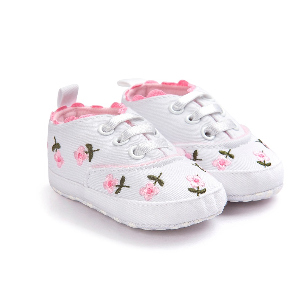 c0cf5c0a8515a US $5.6 30% OFF|[Bosudhsou] R 25 Baby Girl Shoes White Lace Embroidered  Soft Shoes Prewalker Walking Toddler Shoes Children Clothing-in First  Walkers ...