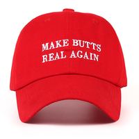 5f1c14493db VORON new MAKE BUTTS REAL AGAIN dad hat men women Cotton baseball cap  UNSTRUCTURED NEW - RED