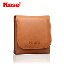 Kase 3 Pocket PU leather Foldable Camera Circular Lens Filter Carry Case Bag Pouch for 25mm 82mm Filters