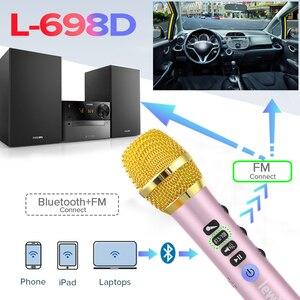 Image 4 - Lewinner שדרוג L 698D מקצועי 20W נייד אלחוטי Bluetooth קריוקי מיקרופון רמקול עם כוח גדול עבור לשיר/ישיבות