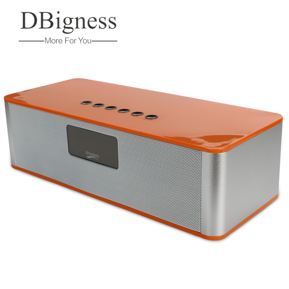 Dbigness Speaker Wireless Bluetooth Speaker Stereo Super Bass Big Power Subwoofer Support USB AUX TF FM Built-in Mic for Phone цена