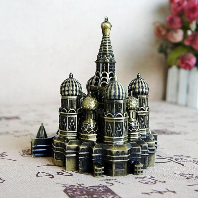 US $20 0 |12cm Russian Famous Landmark Moscow Kremlin Palace Metal Model-in  Figurines & Miniatures from Home & Garden on Aliexpress com | Alibaba